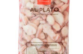 Rejos de potón cocidos congelados para tiendas de alimentación y HORECA