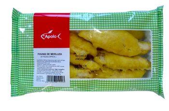 Pavías de Merluza congeladas Apolo Distribución congelados en Málaga Cocelang