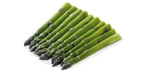 Espárragos verdes congelados