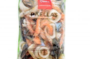 Preparado de paella sin verduras congelada