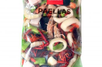 Preparado de paella congelada