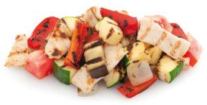 Distribución de preparados con verduras y pollo congelados