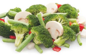 salteado de verduras campestres congelados